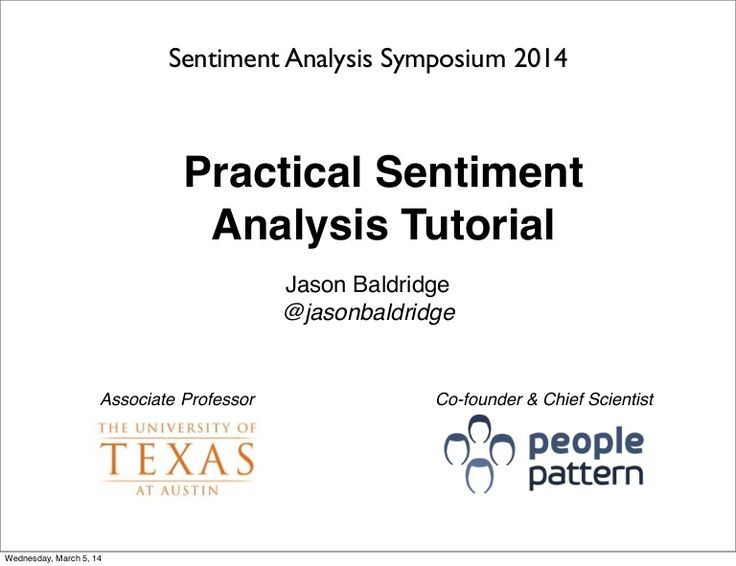 Practical Sentiment Analysis