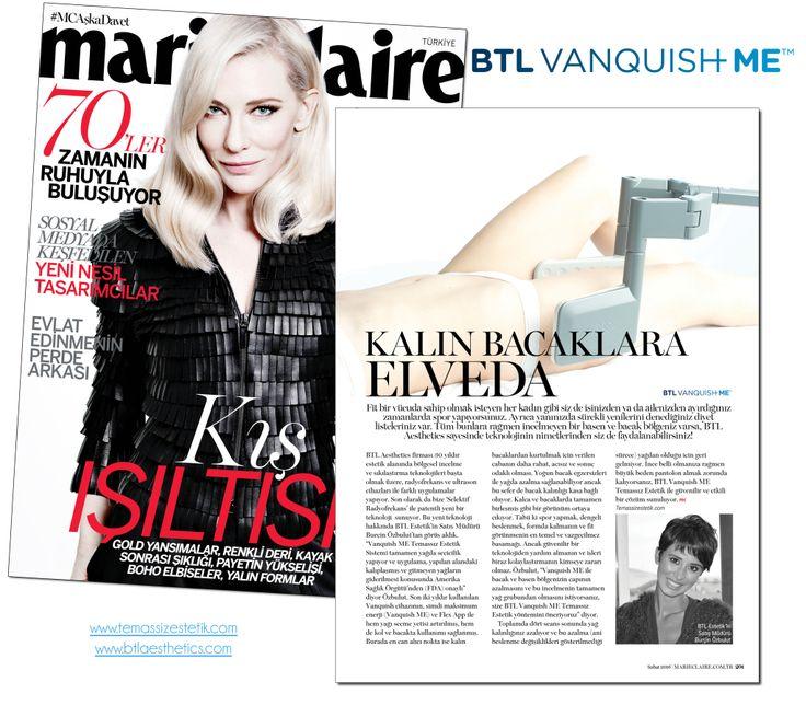 Marie Claire Şubat 2016 Kalın Bacaklara Elveda Burçin Özbulut #BTLVanquishME #TemassizEstetik #MarieClaire