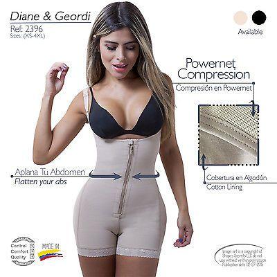 Fajas Colombianas Diane & Geordi 2396 Women's Liposuction Bodyshaper. Powernet