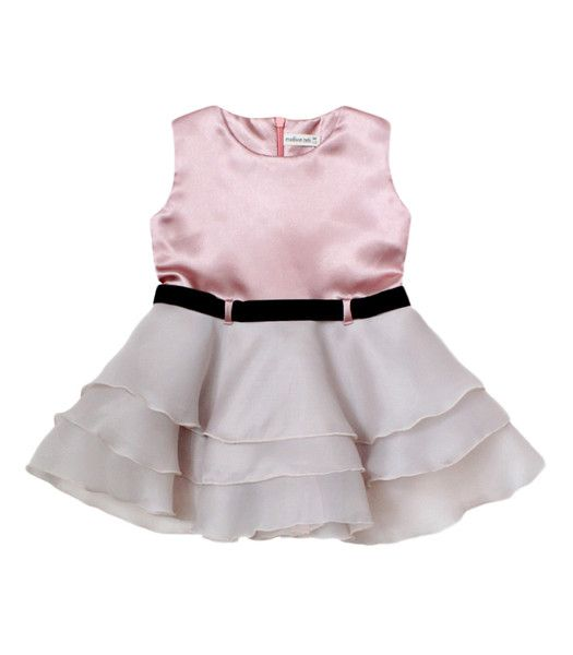 Satin Organza Dress in Peony