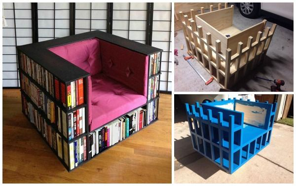 DIY Bookshelf Chair for Book Worms