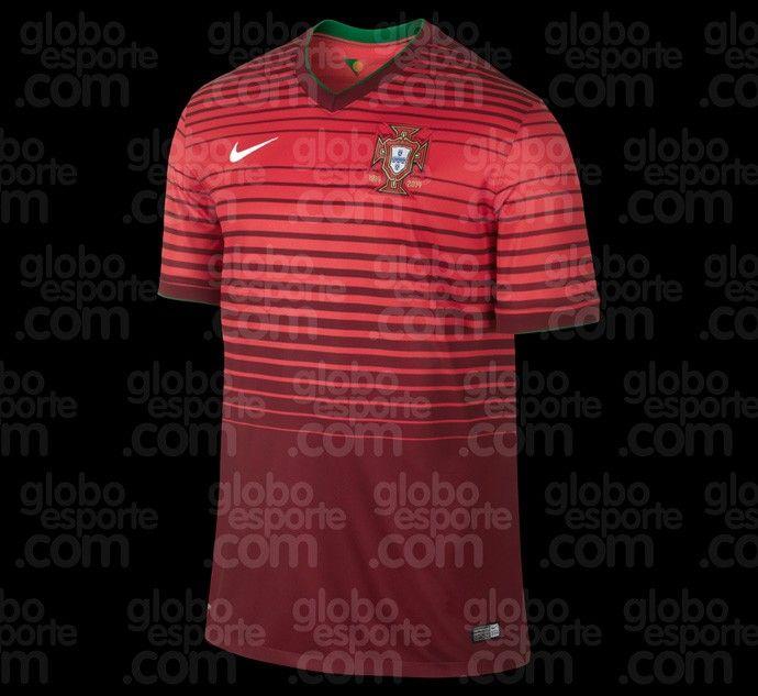 Portugal terá camisa listrada na Copa; veja modelos de EUA, Croácia e Coreia