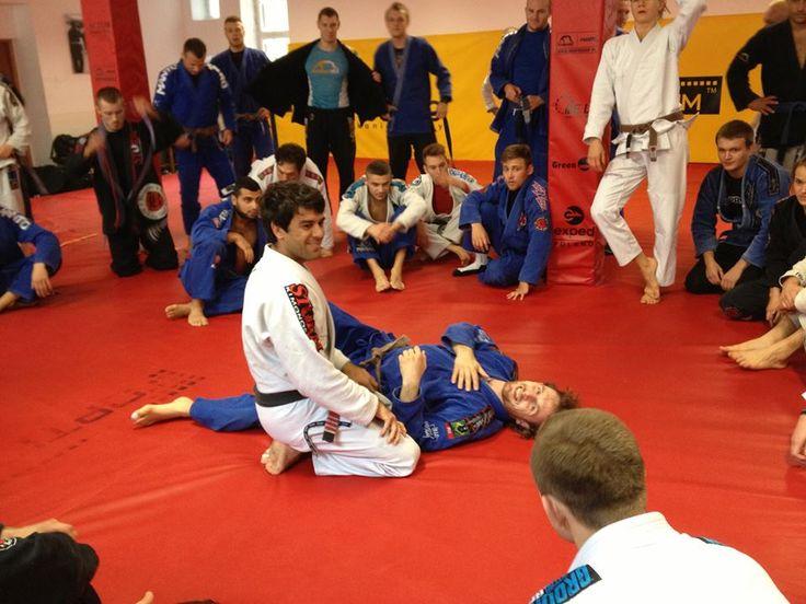 Felipe Costa durante uma aula de Jiu-Jitsu. Foto: Arquivo Pessoal
