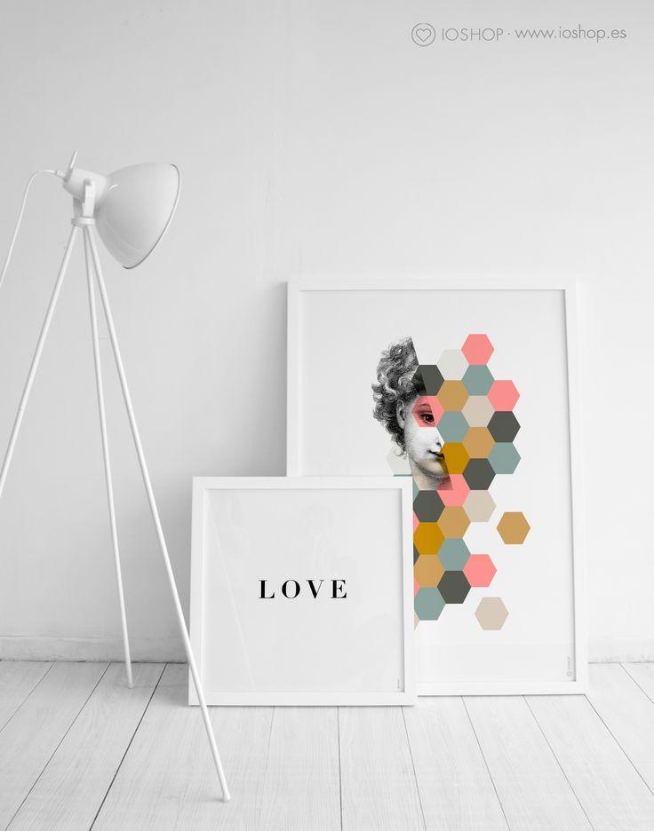 Lámina Love y lámina Woman www.ioshop.es