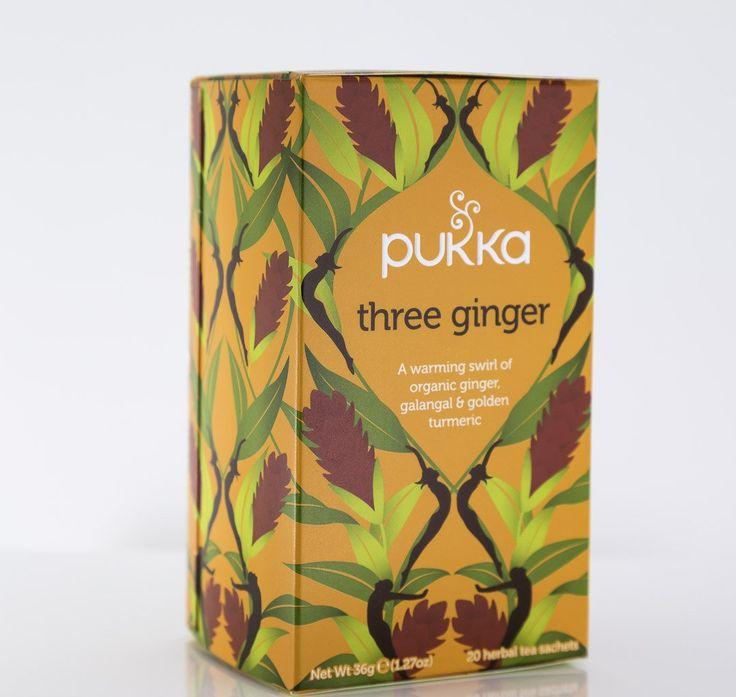 Pukka Herbs - Three Ginger Tea Blend - 1 Box of 20 Bags