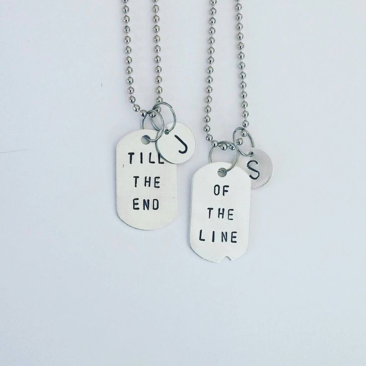 Till the end of the line - Steve Rogers & Bucky Barnes - Captain America Winter Soldier - personalized monogrammed Dog Tag Necklace by SaltedMelon on Etsy