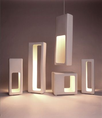 Love these modern lamps and pendants.