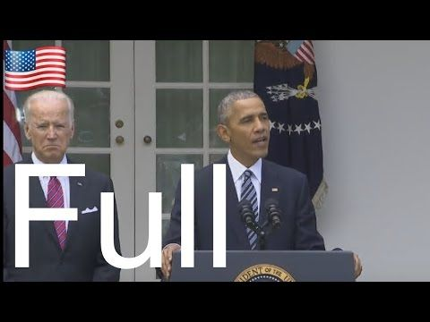 Breaking News : President Obama Speech Today 11/9/2016 After Donald Trump Elected - YouTube