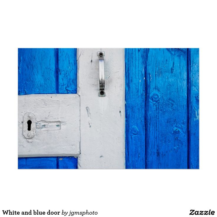 Póster White and blue door