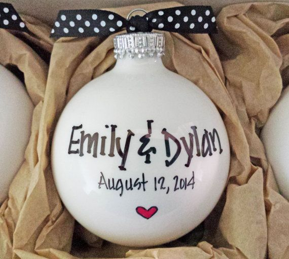 Wedding Ornaments Wedding Gift Set Personalized by HappyYouHappyMe