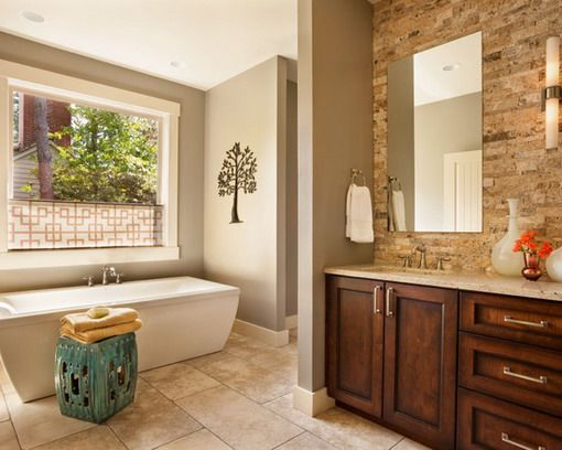 29 best bagni di colori caldi images on pinterest room bathroom ideas and home - Excellent bathroom paint ideas green decoration ...