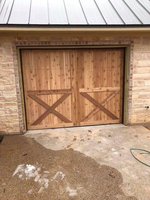 Custom Wood Garage Doors Farmhouse In 2019 Wood Garage Doors