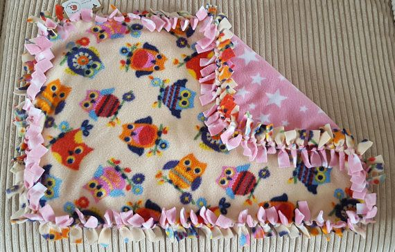 Owl blanket Star blanket Cat blanket Small blanket Fleece