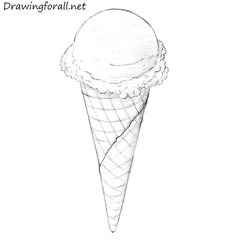 drawing ice cream cone