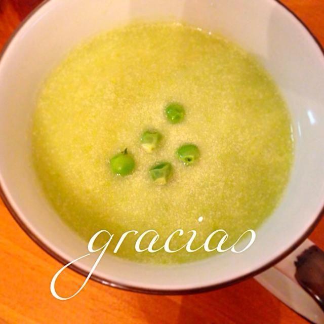 ♡豆乳ベース♡ グリーンピースと、じゃがいものトロリ食感スープ - 16件のもぐもぐ - 美味しく健康に♡グリーンピースのスープ by graciasheal99