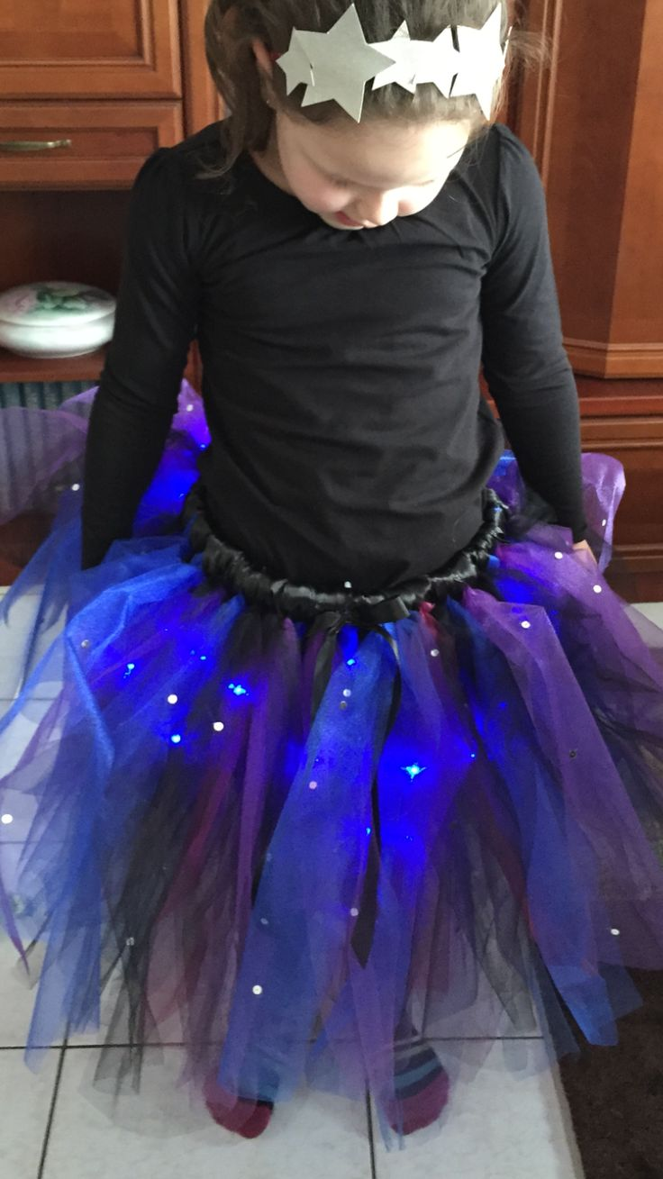 Galaxy costume with led lights