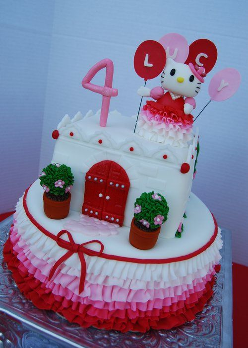 Hello Kitty Cake by CakesByNicole