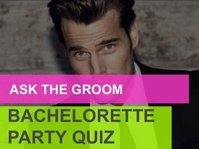Ask the Groom: A Party Quiz. Free print out!