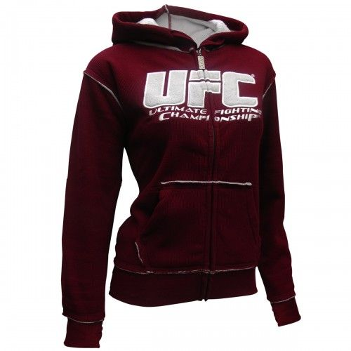 UFC Womens Sherpa Hoodie [Burgundy/Silver]I LOOOVE THIS!! & SUCHA GREAT PRICE FOR GOOD QUALITY!!! <3 #LOVE #WANT
