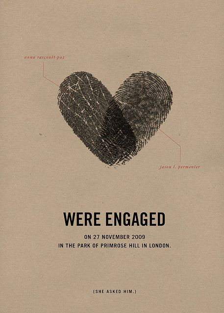 Thumbprint Engagement Party Invite.- cool and different