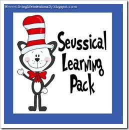 Living Life Intentionally: {FREE} Seussical Learning Pack