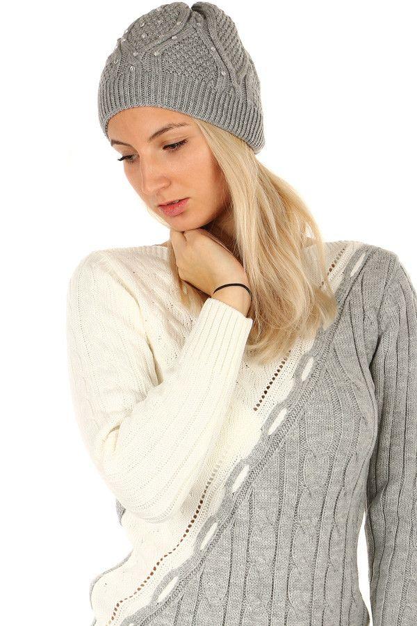 3f72ffcf983 Dámská pletená čepice zdobená flitry - koupit online na Glara.cz  glara   fashion
