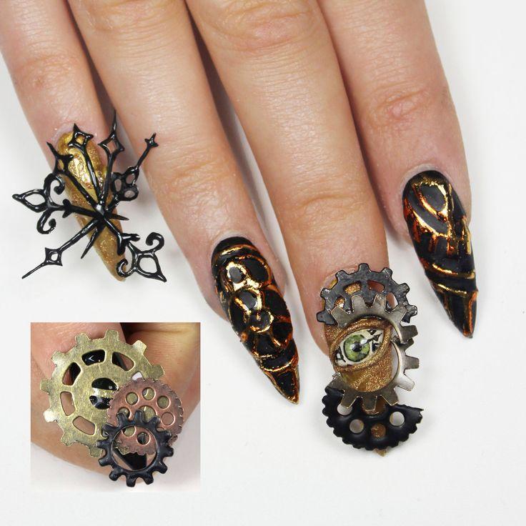 steampunk clock NAILS Next Top Nail Artist   Contestants   LexiNext Top Nail Artist 2014 – NAILS Magazine