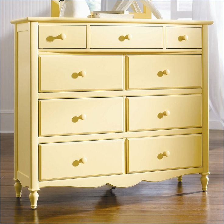 Lea Seaside Dreams 9 Drawer Double Bureau Dresser #home #decoration #homedecor #furniture #pastel #yellow