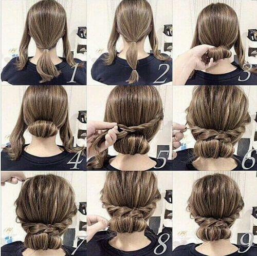 60 DIY Easy Updos für mittlere Haare