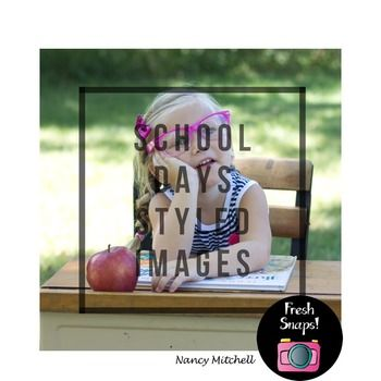 """This is a cute school days bundle set. This set includes 9 different images with different image sizes. They are ready to use as an instant download. (No physical item will be delivered.) They are great to overlay your photo with text or design. The Watermark or """"Put your text here"""" will not be in the download."""