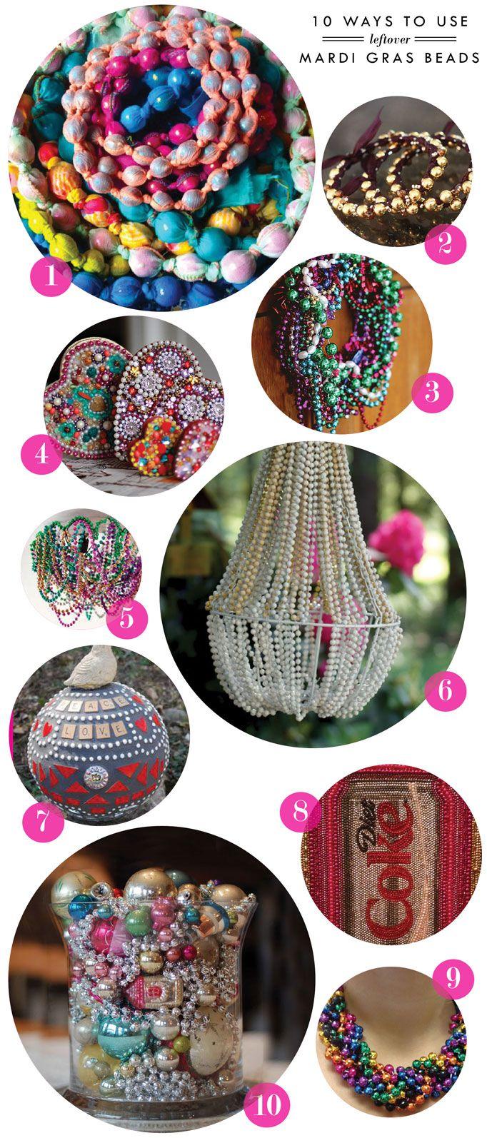 Craft time: 10 Ways to use leftover mardi gras beads