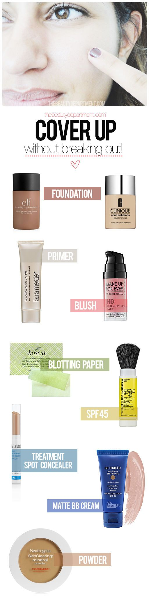 The Beauty Department: Your Daily Dose of Pretty. - MAKEUP FOR ACNE PRONE SKIN