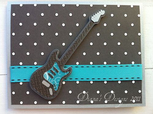 Cricut Indie Art Electric Guitar Card: