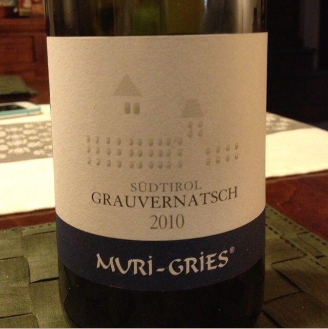 Muri-Gries Grauvernatsch 2010  #SudTyrol