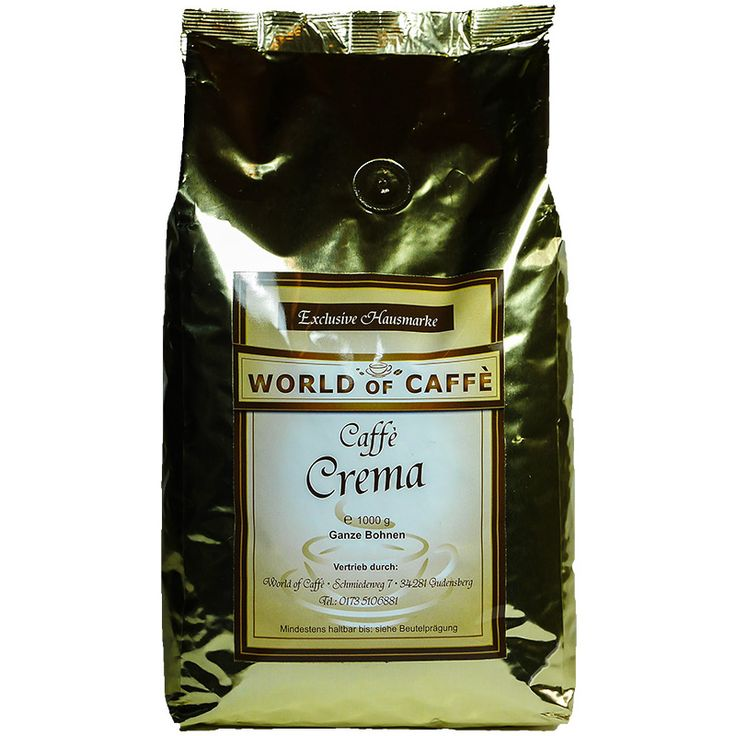 World of Caffe Hausmarke, Caffe Crema 1kg Bohnen