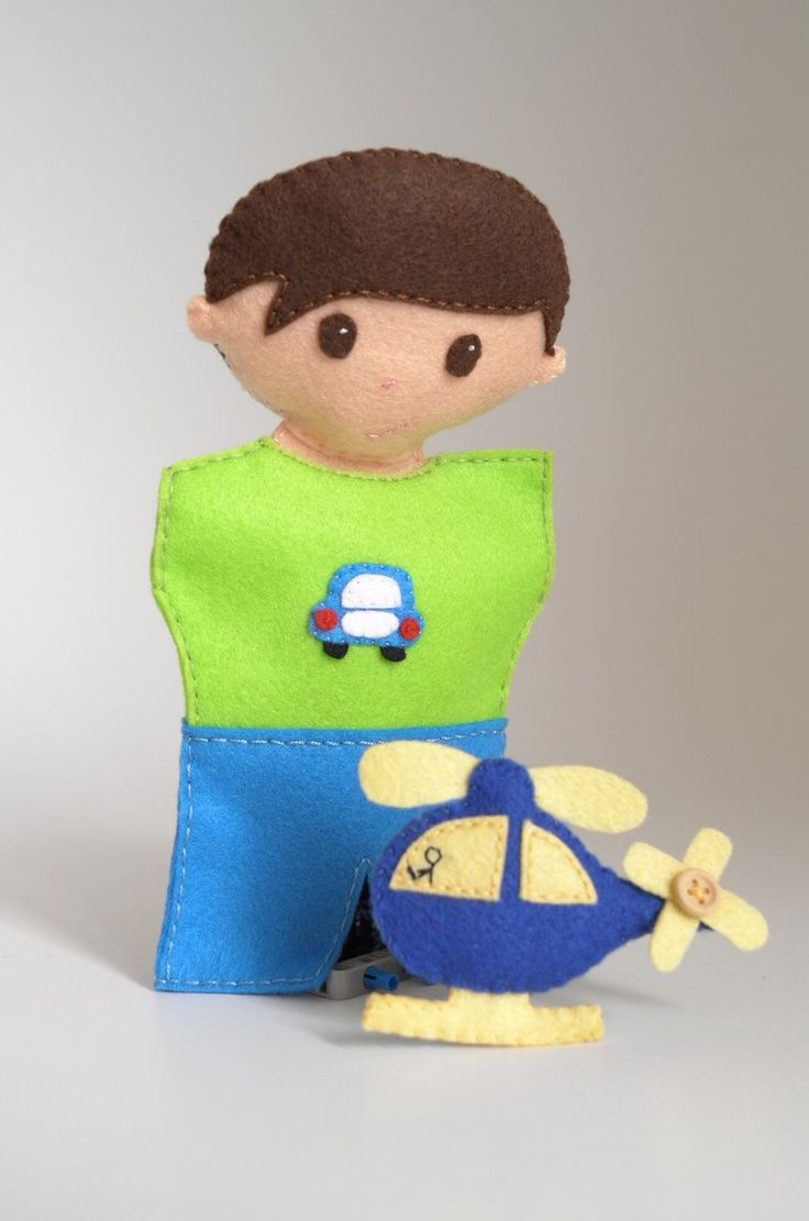 A personal favourite from my Etsy shop https://www.etsy.com/listing/252133170/boy-puppet-boys-toys-daddy-and-son-car