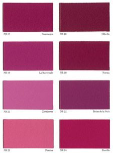 17 best images about nuancier magenta tyrien on pinterest - Nuancier couleur peinture seigneurie ...