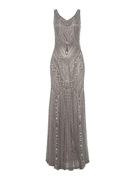 Silver wedding dress. Vintage-inspired loveliness!