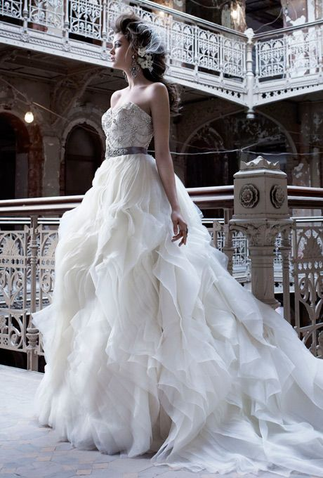 19 best lazaro images on pinterest for How much is a lazaro wedding dress