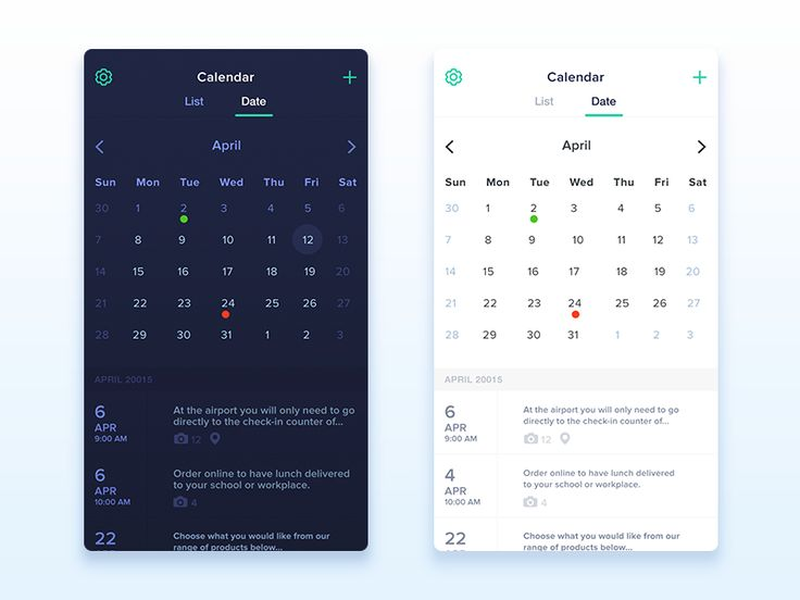 Calendar app new version by Kiran Shastry                                                                                                                                                                                 Mais