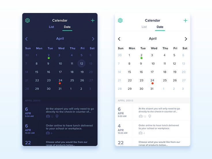 Calendar App Ui : Ideas about calendar ui on pinterest app
