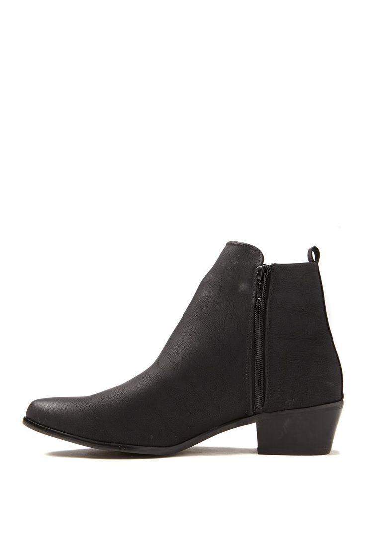 Sandy Zip Boot, BLACK