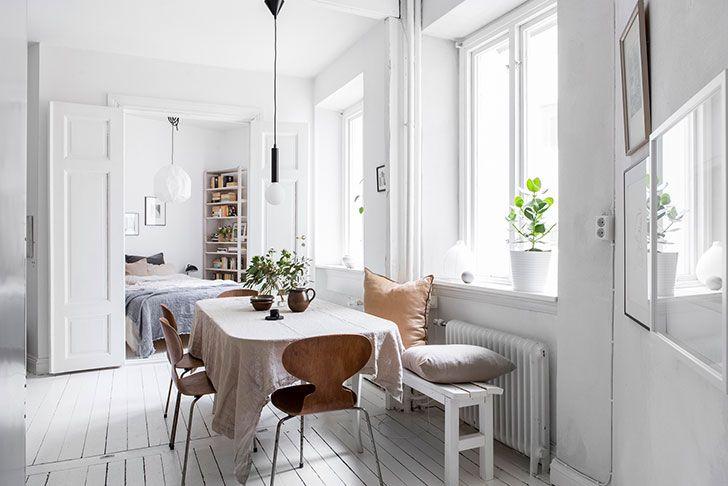 Compact White Apartment Gothenburg 42 Sqm Apartment Design