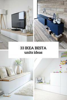 33 façons d'utiliser des unités IKEA Besta à Accueil DÃ © cor | DigsDigs