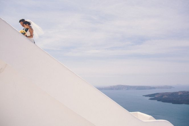 Elope in Greece | Santorini Wedding | Design By Stella and Moscha - Exclusive Greek Island Weddings | Photo by Chris Spira | http://www.stellaandmoscha.com