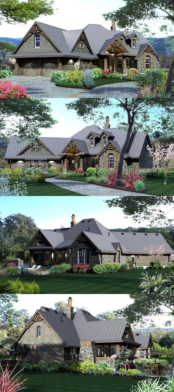Cottage House Plan chp-49218 at COOLhouseplans.com