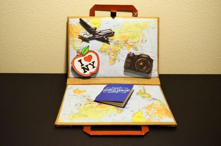 BIGLIETTO VALIGIA di CARTONE!!! di il Tappo di Sughero su DaWanda.com