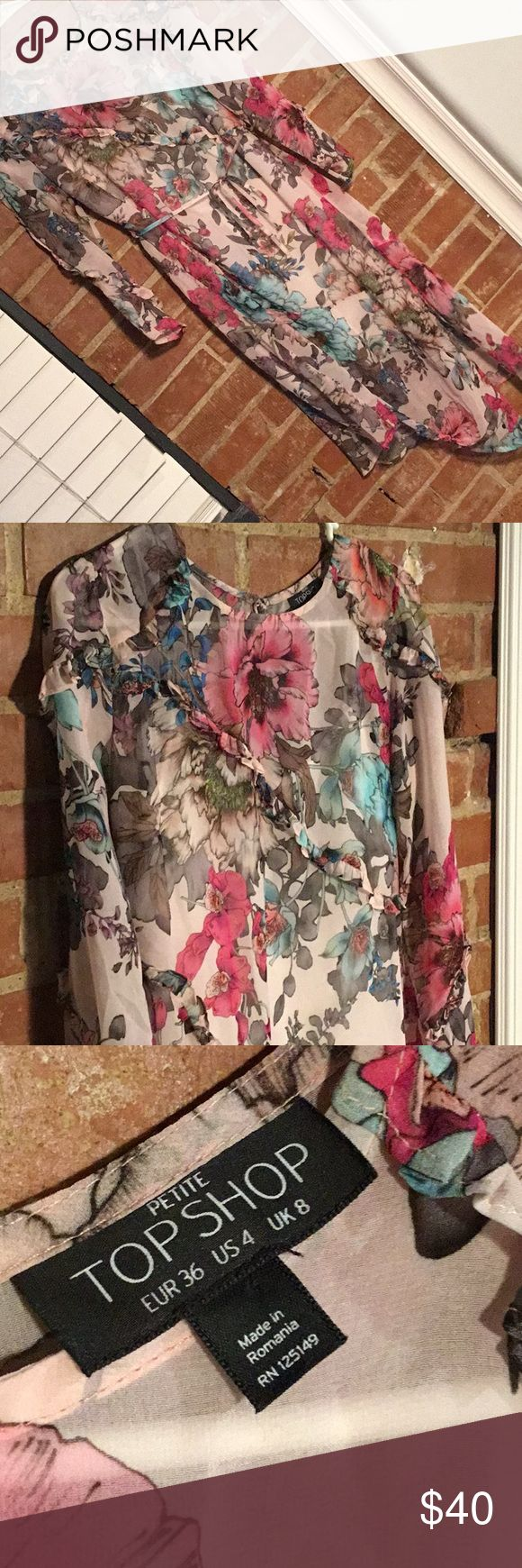 Topshop Floral Midi Dress New without tags Sold out online and the first dress on Refinery29's 27 Floral Dresses That are Actually Kind-of Groundbreaking articles!   Size 4 petite  Open to offers Thanks for sharing!!  😊🤗 Topshop Dresses Midi