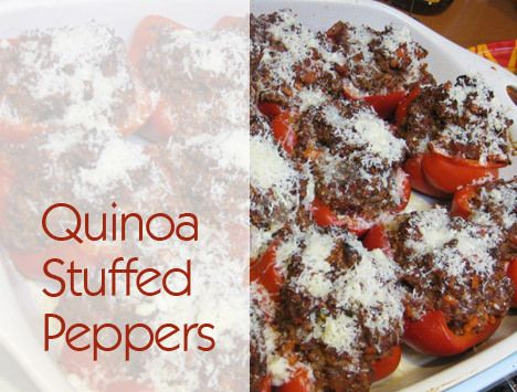 Stuffed Red Peppers With Quinoa And Provolone Recipe — Dishmaps