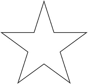 Full Page Star Template | This is a full page of a five point star pattern for the How Do You ...